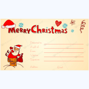 personalized christmas gift certificate template word layouts. Black Bedroom Furniture Sets. Home Design Ideas