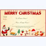 Santa Gift Certificate Template