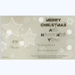 Shinning Stars Christmas Gift Certificate Template