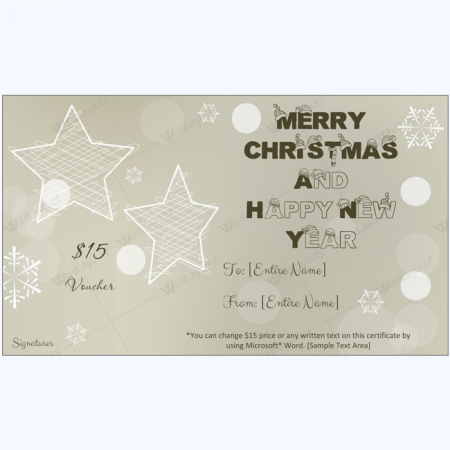 Christmas Gift Certificate Template 01 Word Layouts – This Certificate Entitles You to Template