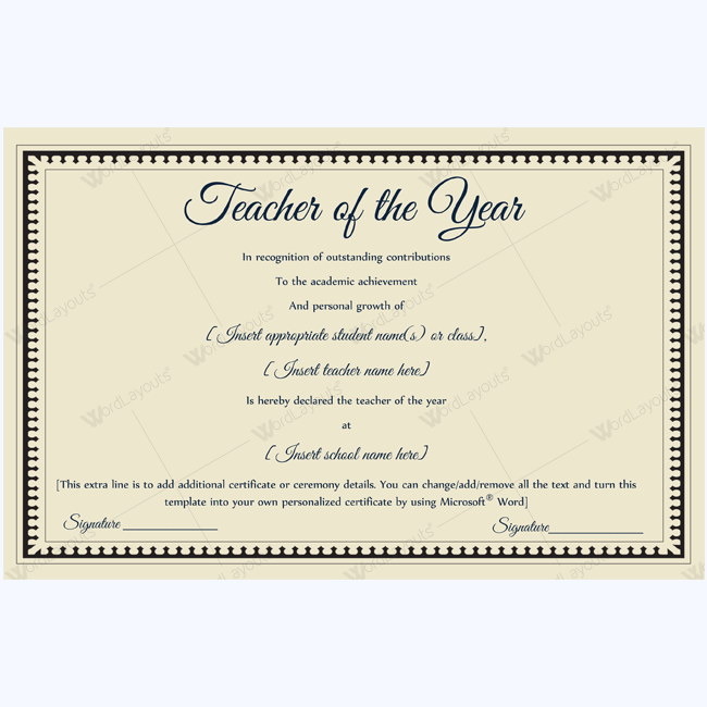 89 Elegant Award Certificates for Business and School Events – Award Templates Word