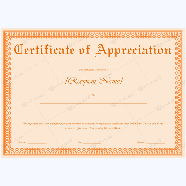 89 elegant award certificates for business and school events for Editable certificate template