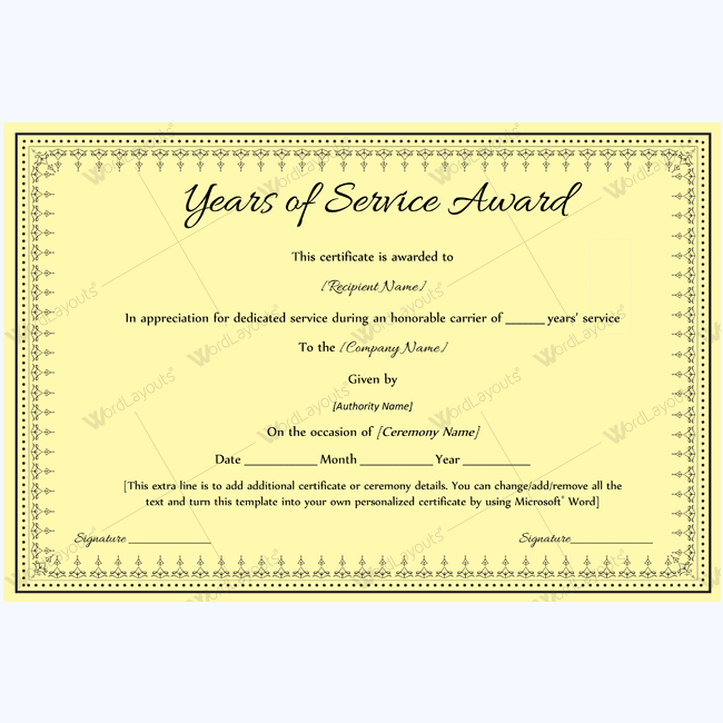 89 elegant award certificates for business and school events certificate of retirement award certificate template yadclub Images