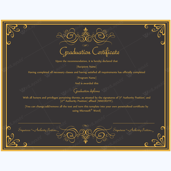 Valedictorian award certificate template 89 elegant award certificates for business and school events yadclub Images