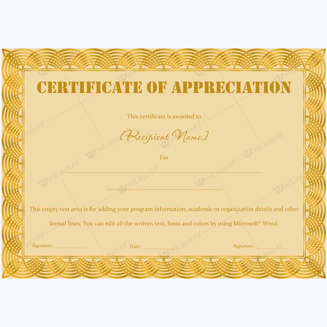 89 elegant award certificates for business and school events free certificate of appreciation template yelopaper Image collections