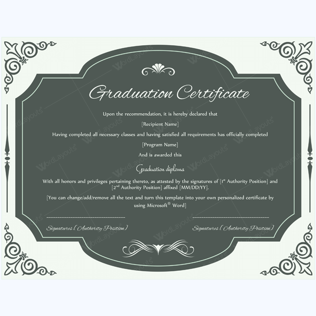 89 elegant award certificates for business and school events fake graduation certificate template word yelopaper Choice Image