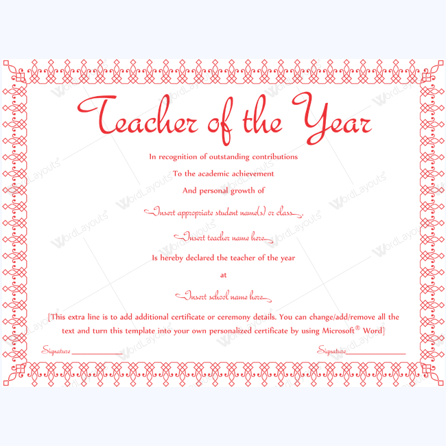 89 elegant award certificates for business and school events teacher performance award certificate template word yelopaper Gallery