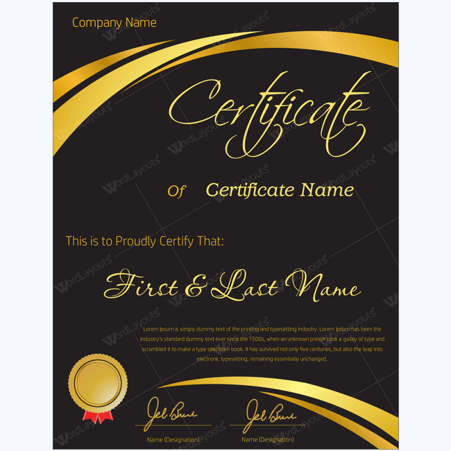golden-formal-award-template-for-business