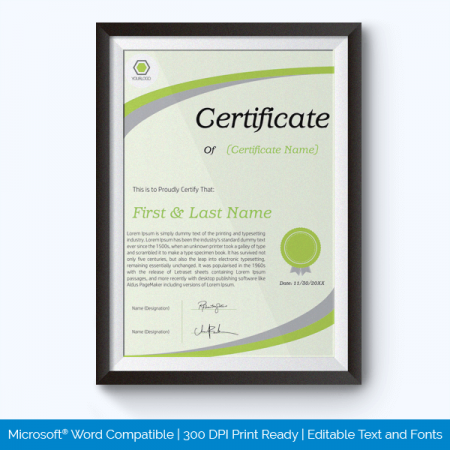 Awards Certificate Template Word | Award Certificate Templates 500 Printable Awards