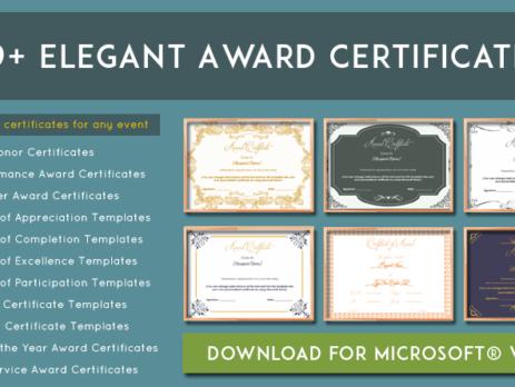 more than 89 award certificate templates editable and printable