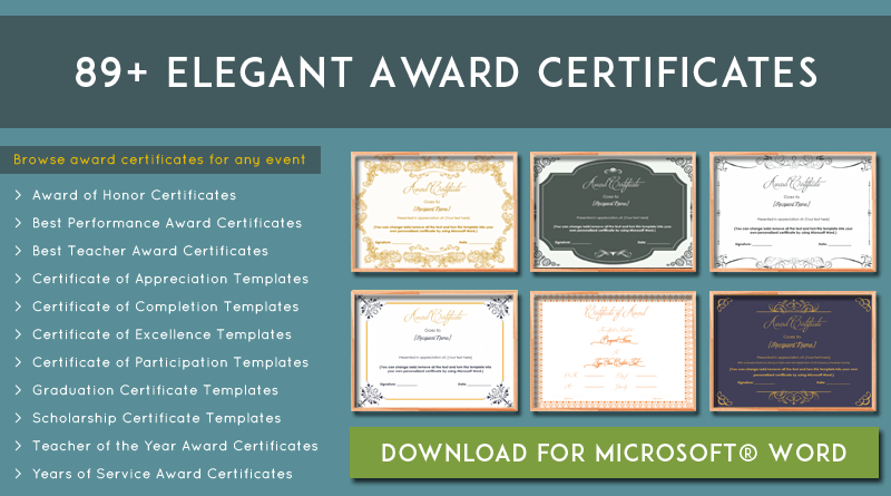 more than 89 award certificate templates editable and printable