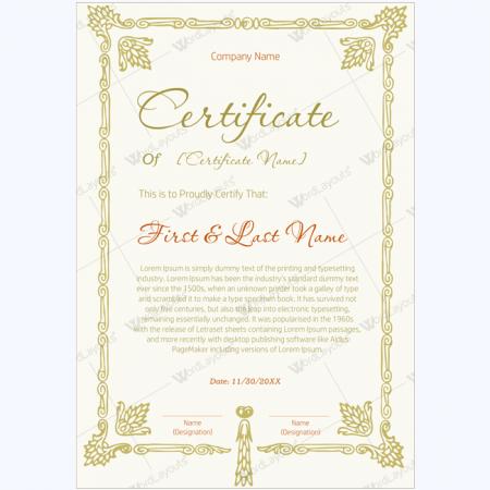 scholarship award certificate template