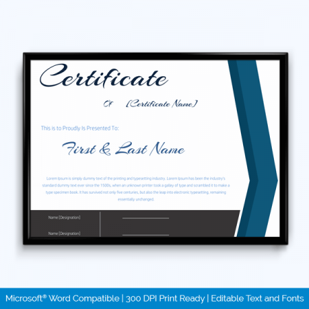 Years of Service Award Certificate Templates - Word Layouts
