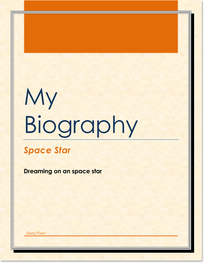 Biography Templates on Personal Writing Examples