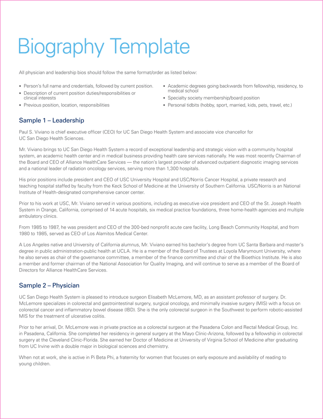 biography templates images in word pdf biography sample pdf