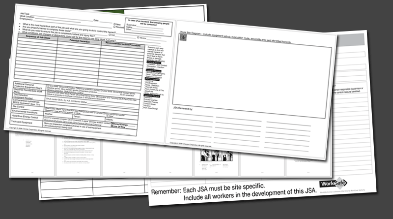 Job Safety Analysis Form Template. Job Safety Analysis Template 6