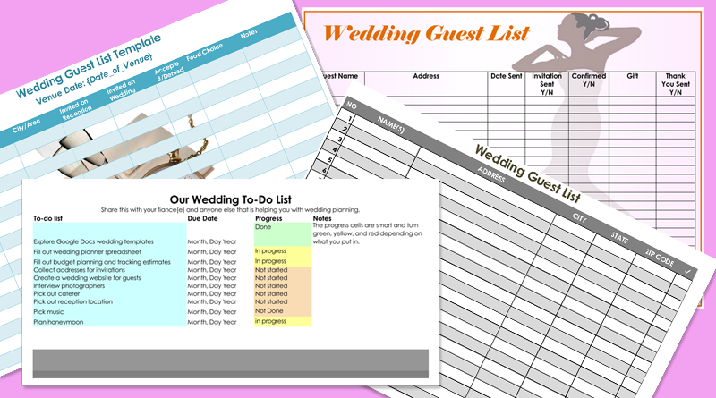 Free Wedding Guest List Templates for Word and Excel Track – Wedding List Template