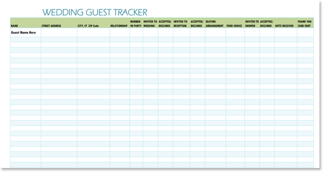 Doc779602 Wedding Guest List Sample Free Wedding Guest List – Sample Guest List