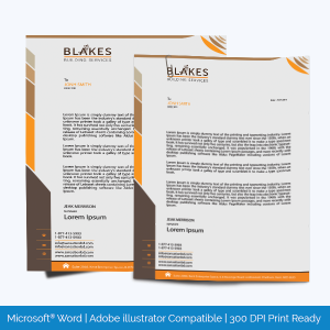 Letterhead template for Word and adobe