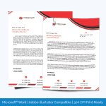 Letterhead-template-in-red-theme