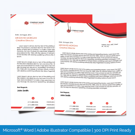 Letterhead templates graphic design letterheads for microsoft word letterhead template 14 spiritdancerdesigns Image collections