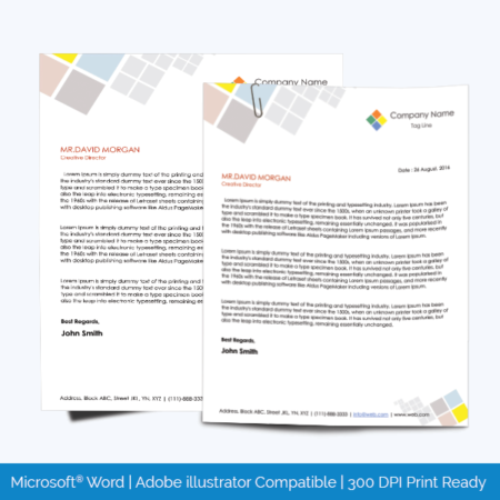 Letterhead Template 05 Word Layouts