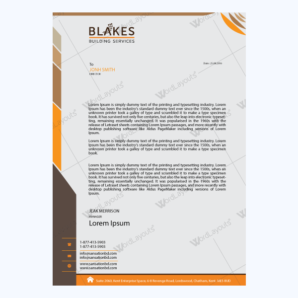 Letterhead template 13 word layouts letterhead template 13 thecheapjerseys