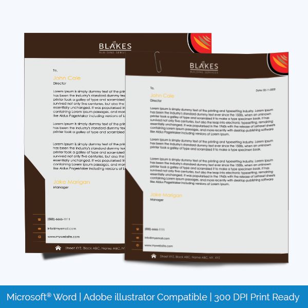Simple initiative letterhead template design for microsoft word letterhead template 18 spiritdancerdesigns Choice Image
