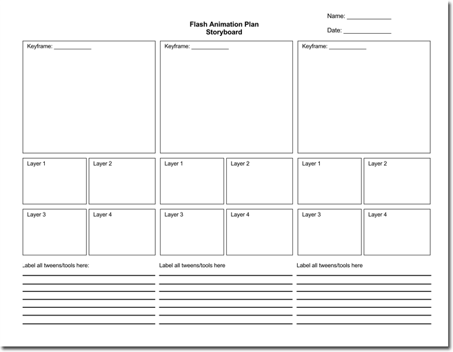 36 free storyboard templates for basic visual and digital animation