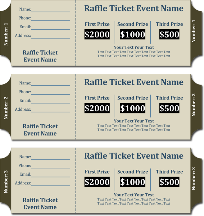 20 free raffle ticket templates with automate ticket for Numbered event ticket template free