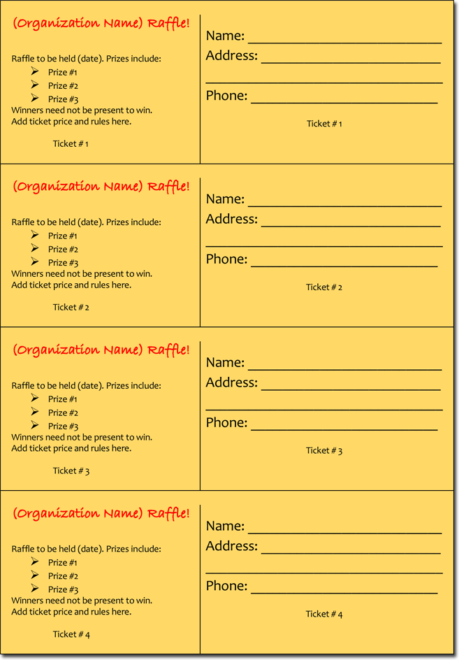 20 free raffle ticket templates with automate ticket for Editable ticket template free