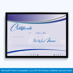 Appreciation award certificate template