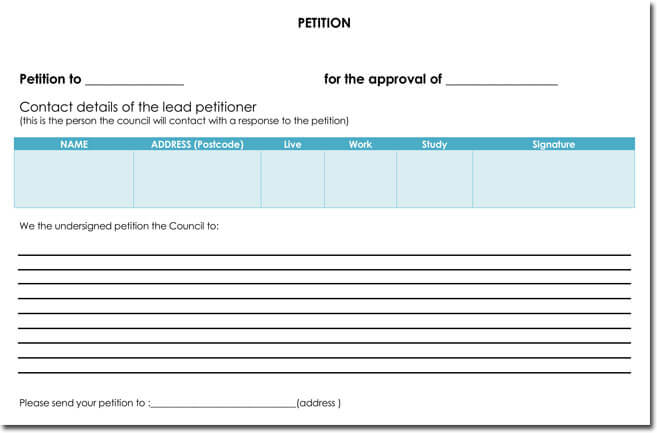 School Petition Free Sample Example Format Download Blank Petition