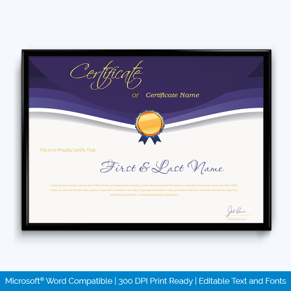 Award Certificate (Long Service)