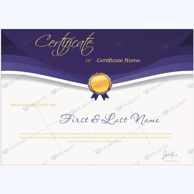 elegant award certificate template