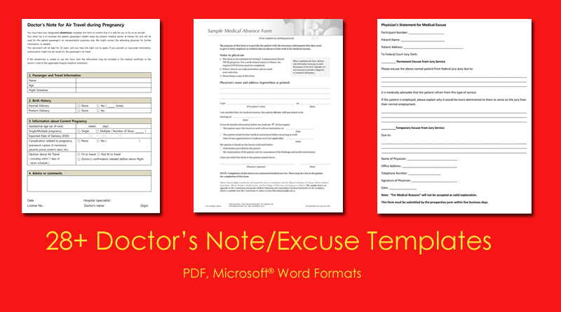 doctor s note templates 28 blank formats to create doctor s excuse