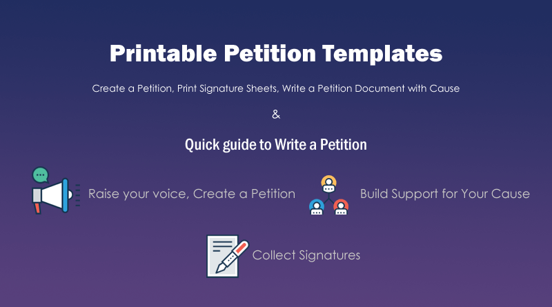 How to write a petition with free petition templates