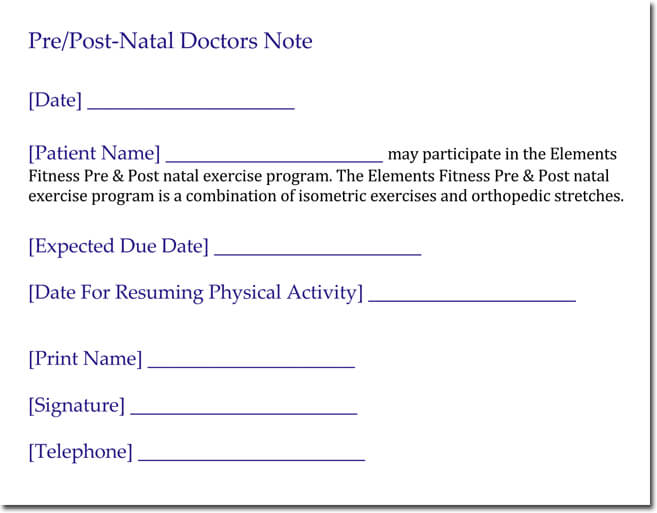 DoctorS Note Templates   Blank Formats To Create DoctorS Excuse