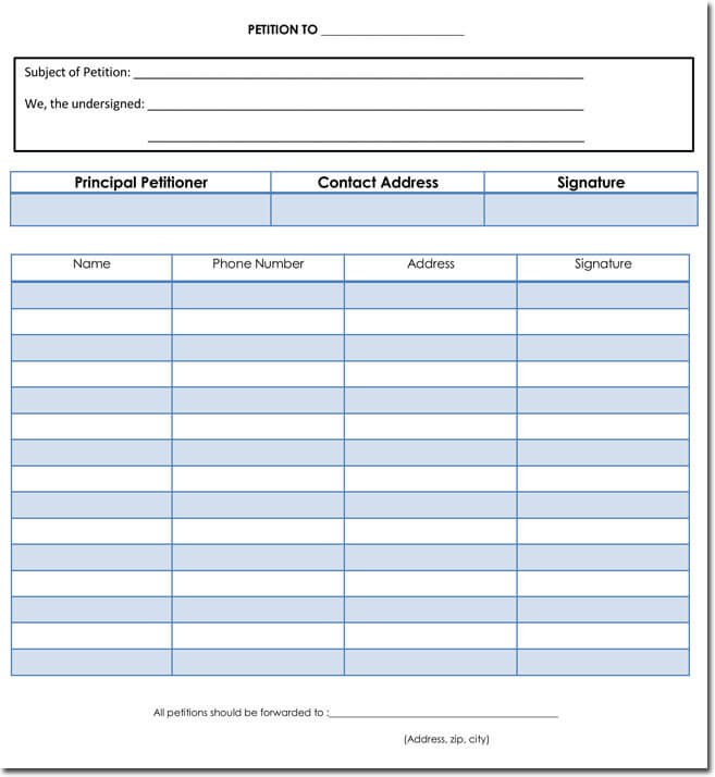 Petition templates create your own petition with 20 for Petition template to print