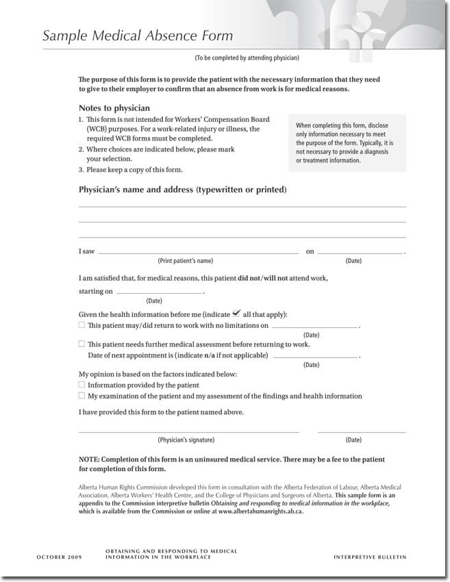 Doctors note templates 28 blank formats to create doctors excuse sample medical absence form download yelopaper Choice Image