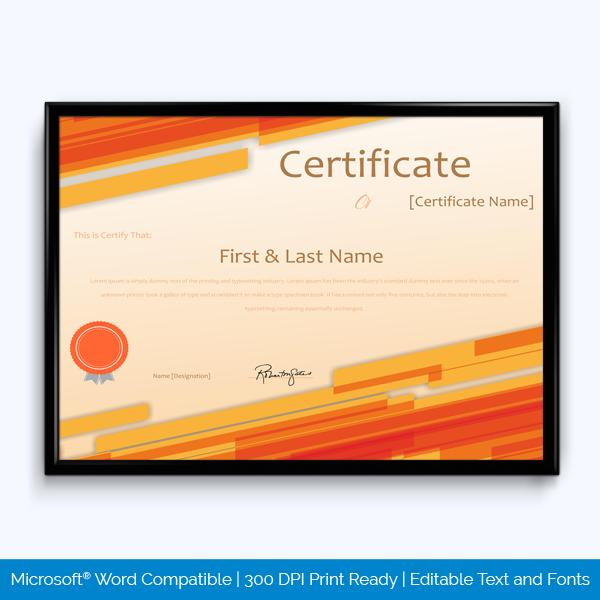 award certificate