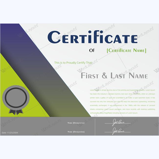 best award certificate template