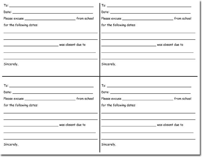 doctors note blank slip template