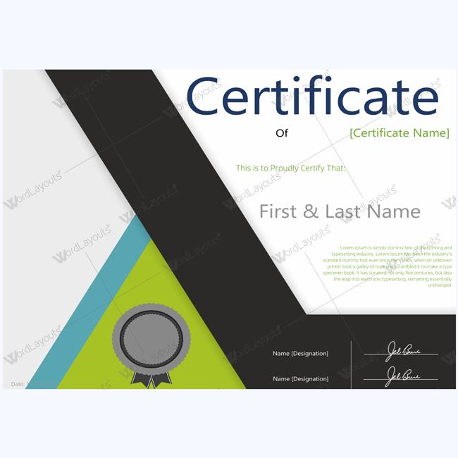 teachers award certificate template