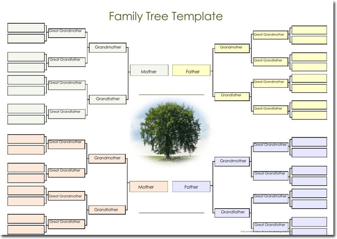 plain family tree template - word family tree template