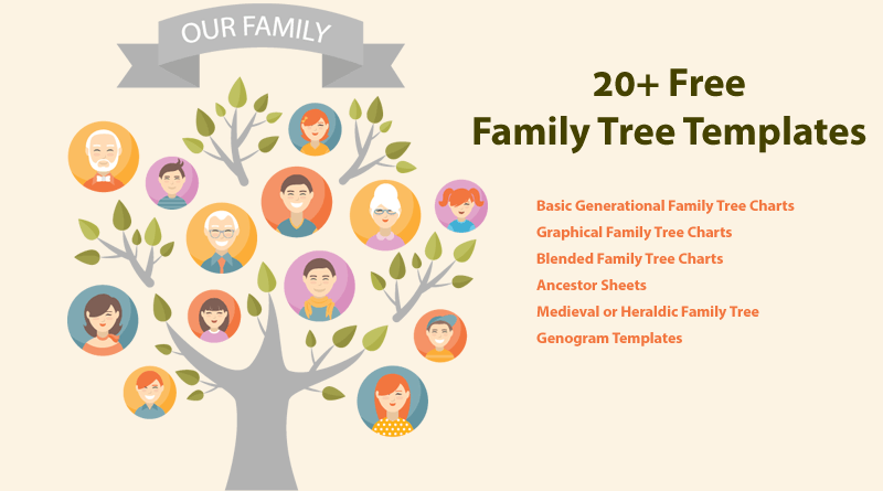 interactive family tree template - free family tree chart printable family tree template 03