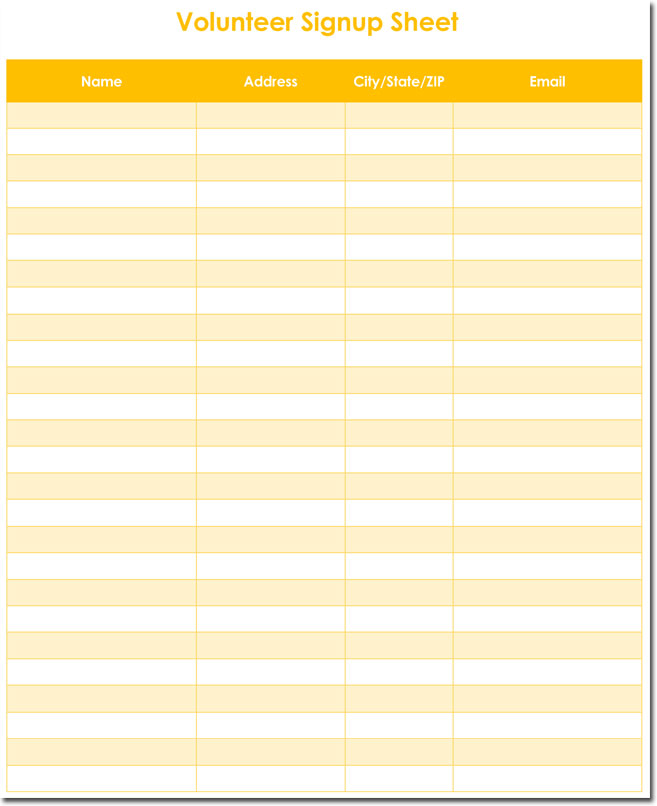 Classroom Party Sign Up Sheet Template from www.wordlayouts.com