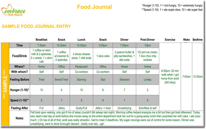 food diary log journal templates. Black Bedroom Furniture Sets. Home Design Ideas