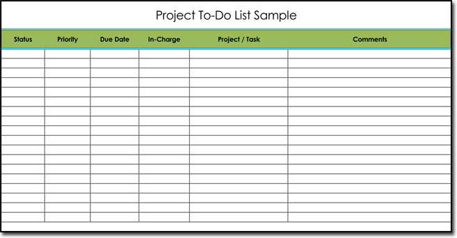 Sample To Do List Template Sample Todo List