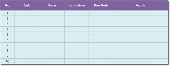 Simple Task List Template